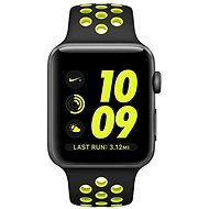 Nike + Apple Watch 42 mm cosmic gray aluminum with black Volt Nike sports strap
