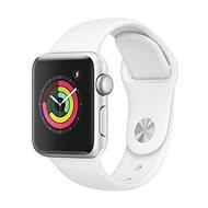 Apple Watch Series 3 38mm GPS Stříbrný hliník s bílým sportovním řemínkem