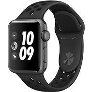 Apple Watch Series 3 Nike+ 38mm GPS Vesmírně šedý hliník s antracitovým sportovním řemínkem Nike