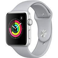Apple Watch Series 3 42mm GPS Stříbrný hliník s mlhově šedým sportovním řemínkem - Chytré hodinky
