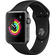 Apple Watch Series 3 42mm GPS Space-grey Aluminium mit Sportarmband schwarz - Smartwatch