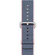 Apple 42mm Svetlo ružový / polnočná modrá z tkaného nylonu - Remienok