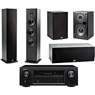 DENON AVR-X540BT + reprosoustava Polk Audio T50 + T30 + T15