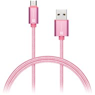 CONNECT IT Wirez Premium Metallic micro USB 1m rose - Datový kabel