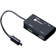 CONNECT IT Hub & Reader OTG, USB + Micro USB - Kartenleser