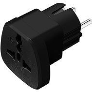 CONNECT IT UK->EU Power Adapter černý - Cestovní adaptér