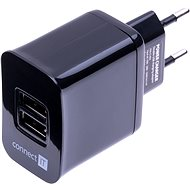 CONNECT IT CI-463 Dual Charger čierna