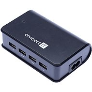 CONNECT IT CI-497 Quadro Charger Black