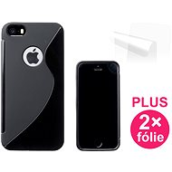 CONNECT IT S-Cover iPhone SE/5/5s černé