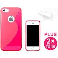 CONNECT IT S-Cover iPhone SE/5/5s červené - Ochranný kryt