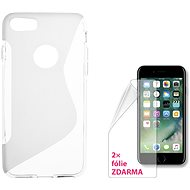 CONNECT IT S-Cover iPhone 7 a iPhone 8 čiré - Ochranný kryt