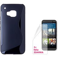 CONNECT WITH IT-Cover HTC One M9 schwarz