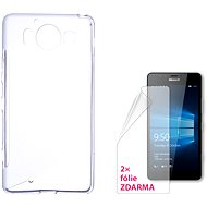 CONNECT WITH IT-Cover Microsoft Lumia 950/950 Dual SIM clear
