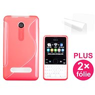 CONNECT IT S-Cover Nokia Asha 210 rot