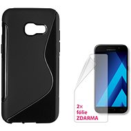 CONNECT IT S-Cover Samsung Galaxy A3 (2017, SM-A320F) čierne