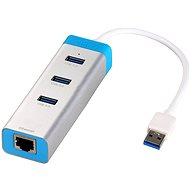 I-TEC USB 3.0 Metal HUB s Gigabit Ethernet adaptérom