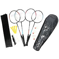 Badminton set to 4 players with mesh
