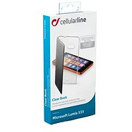 CellularLine CLEARBOOKL535K černé - Pouzdro na mobilní telefon