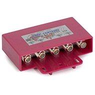 prepínač Diseqc zo 4 konvertorov, vonkajšie vyhotovenie, F konektory