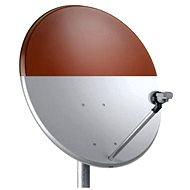 TeleSystem satelitní železná parabola 74x84cm červená