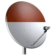 Telesystem satellite dish 82x72cm red iron, cardboard