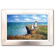 FrameXX Home 150 - bílý se stříbrným rámem - Digitální fotoobraz