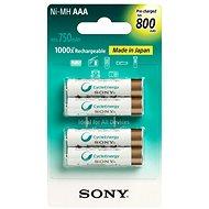 Sony NiMH, 800mAh, AAA, 4 db - Elem