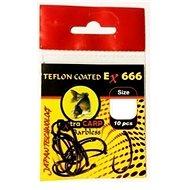 Extra Carp Teflon Hooks EX 666 Barbless Velikost 8 10ks - Háček