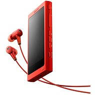 Sony Hi-Res WALKMAN NW-A35 red + headset MDR-EX750 - MP3 Player