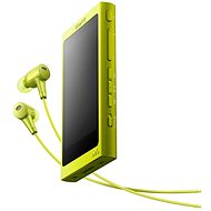 Sony Hi-Res WALKMAN NW-A35 yellow + headphones MDR-EX750 - MP3 Player