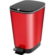 KIS Trash Chic Waste Bin M - Red Metal 35 liters - Dustbin