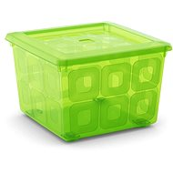 KIS Square Box with wheels 28 litres green