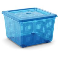 KIS Square Box with wheels 28 litres blue