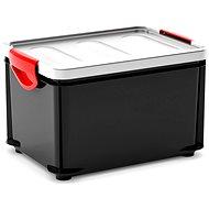 KIS Clipper Box M černý-šedé víko 20l - Úložný box