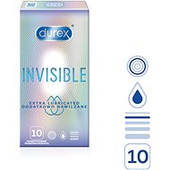 DUREX Invisible Extra Thin Extra Lubricated 10 ks - Kondomy