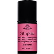 ALESSANDRO Striplac Peel Off UV / LED Nail Polish 42 Neon Pink 8ml