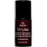 ALESSANDRO Striplac Peel Off UV/LED Nail Polish 54 Midnight Red 8ml