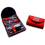 Premium Line manicure set with Swarovski crystals PL 216 Red
