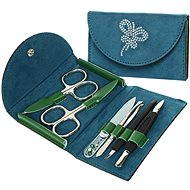 Premium Line manicure set with Swarovski crystals PL 216 electric blue