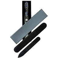 Dukas Glass Nail File with large and small Swarovski crystals - Blue stones