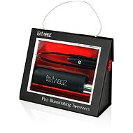La-tweez Pro Illuminating Tweezers with Lipstick Case Black
