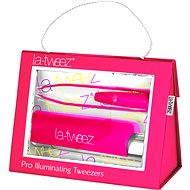 La-tweez Pro Illuminating Tweezers with Lipstick Case Pink