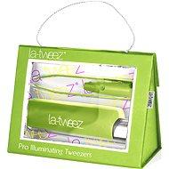 La-tweez Pro Illuminating Tweezers with Lipstick Case Green