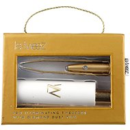 LA-TWEEZ Pro Illuminating Tweezers & Mirrored Carry Case With Diamond Dust Tips Gold - Pinzeta
