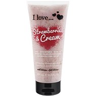 I LOVE… Exfoliating Shower Smoothie Strawberries & Cream 200 ml - Dusche schrubben
