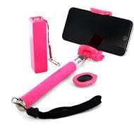 Xlayer Selfie-Stick + PowerBank 2600 mAh pink