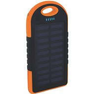 XLAYER Powerbank PLUS Outdoor Solar 4000mAh černá/oranžová