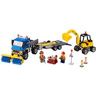 LEGO sweeper truck and excavator