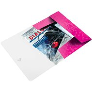 LEITZ Wow 150 listů - metalická růžová - Desky na spisy