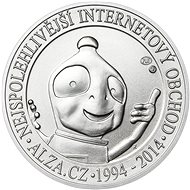 Alza commemorative silver coin 20 years Alza.cz 1 Oz, weight 31.1 grams